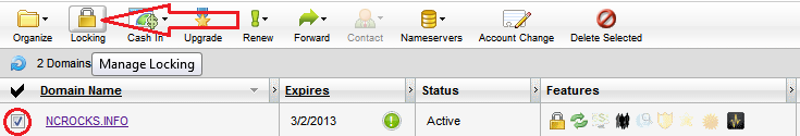 domains locking Transferring Domain from Godaddy