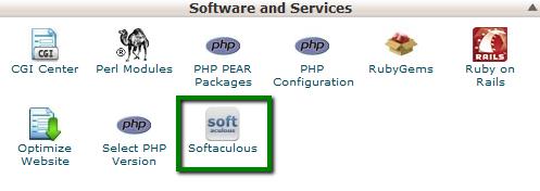 Make a WebSite - Softaculous Menu
