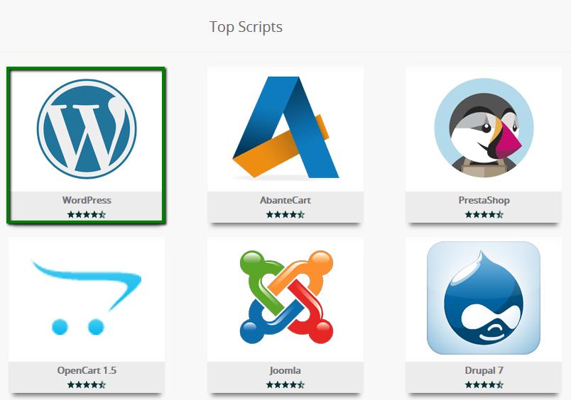 Make a WebSite - Select WordPress