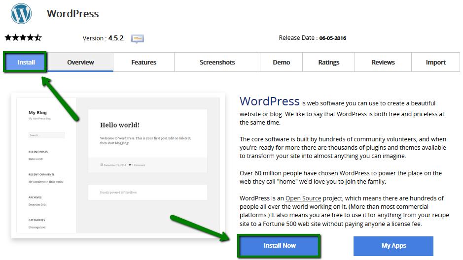 Make a WebSite - Install Now