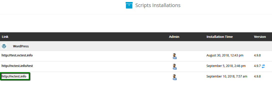 A screenshot of the Softaculous dashboard inside cPanel