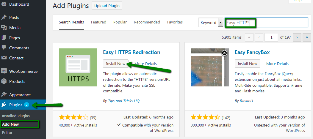 A screenshot indicates how to force HTTPS in WordPress