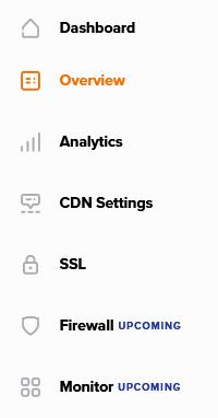 The Namecheap CDN dashboard