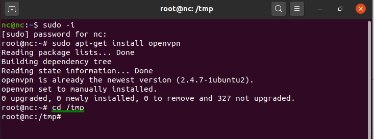 Command text used to unzip Document files in Linux