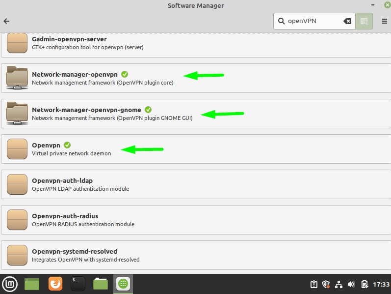Screenshot of Software Manager in Linux Mint