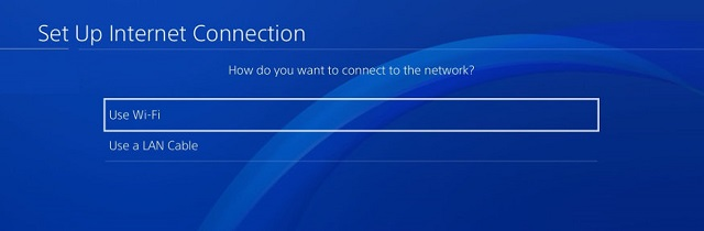 Example of setting up PS4 via WiFi to connect via VPN