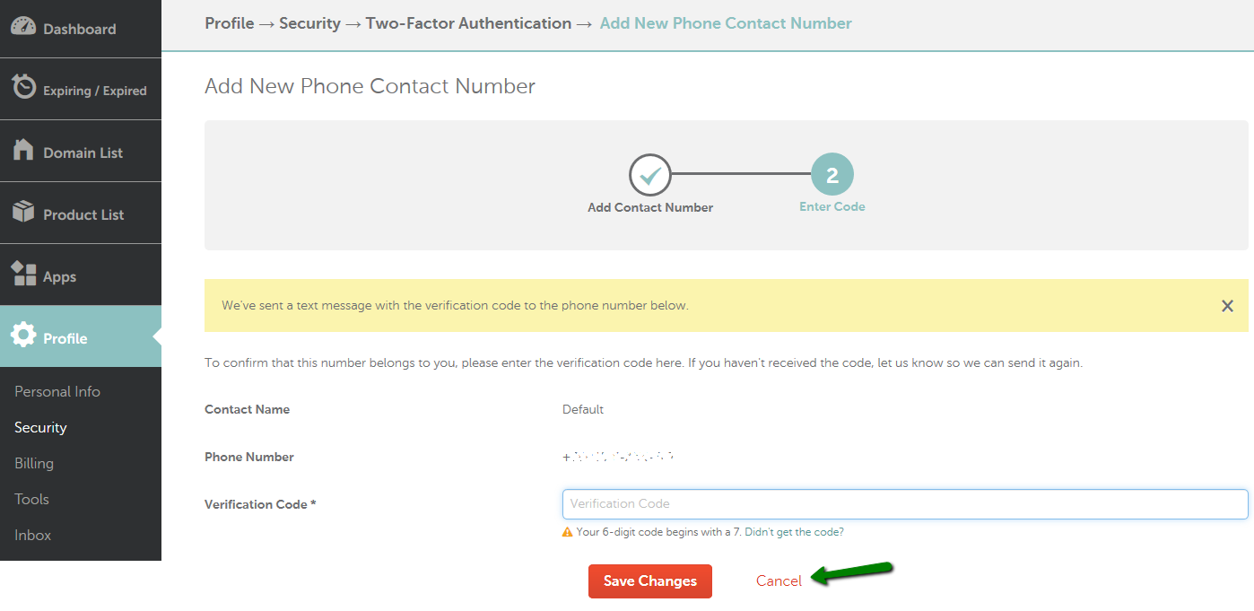 How can I enable/disable Two-Factor Authentication