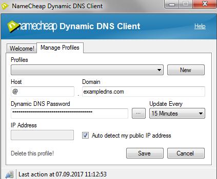 Using Namecheap Dynamic DNS Client - Version 2 0x (beta