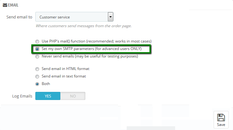 How to configure PHP mail()/SMTP authentication for