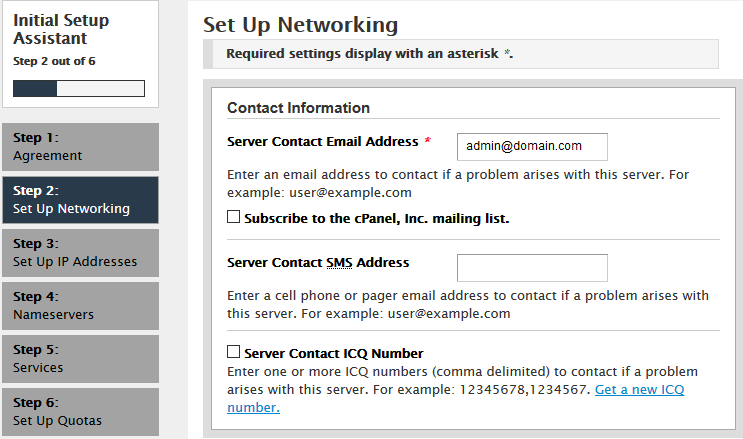 How to configure initial WHM settings (VPS and Dedicated server