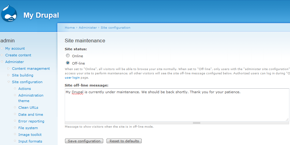 If You Are Logged In Will See A Working Website Log Out Of The Drupal Admin Dashboard To Maintenance Page