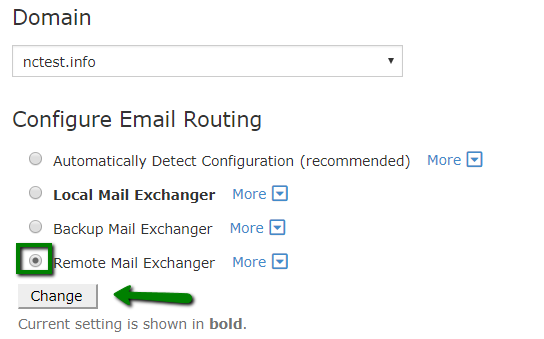 how to change mx records and email routing in cpanel email service
