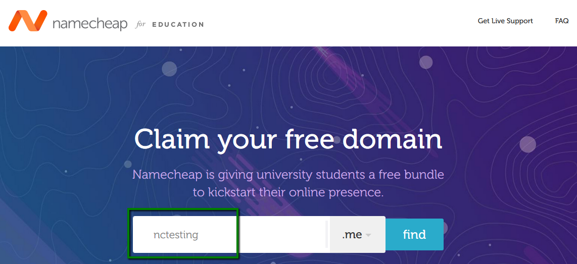 How to register a domain via our Educational Promotion at nc