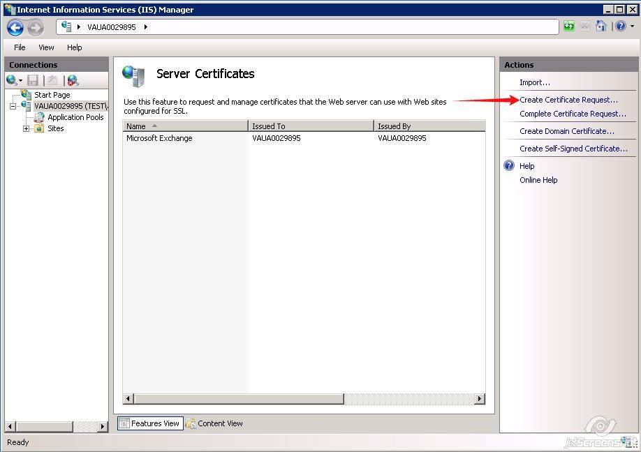 Generating A Csr Code On Iis7 Ssl Certificates Namecheap