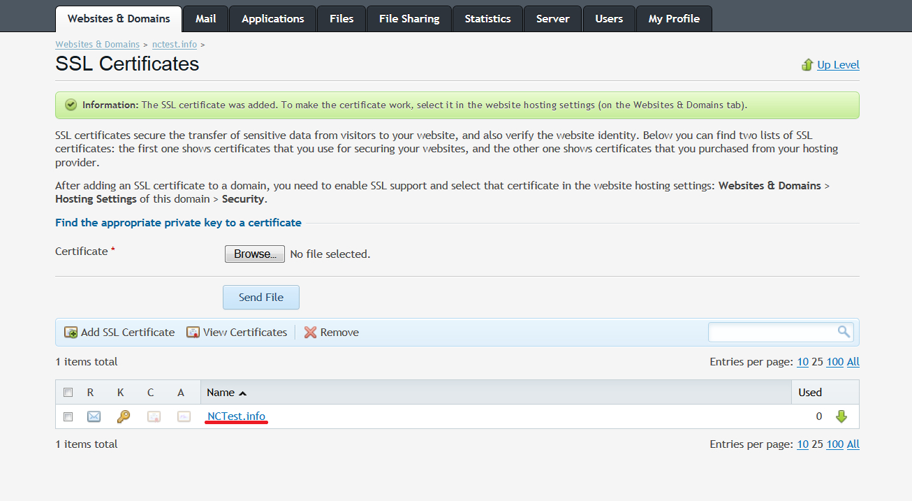 Installing a ssl certificate in plesk 12 namecheap plesk12installation3g 1betcityfo Image collections