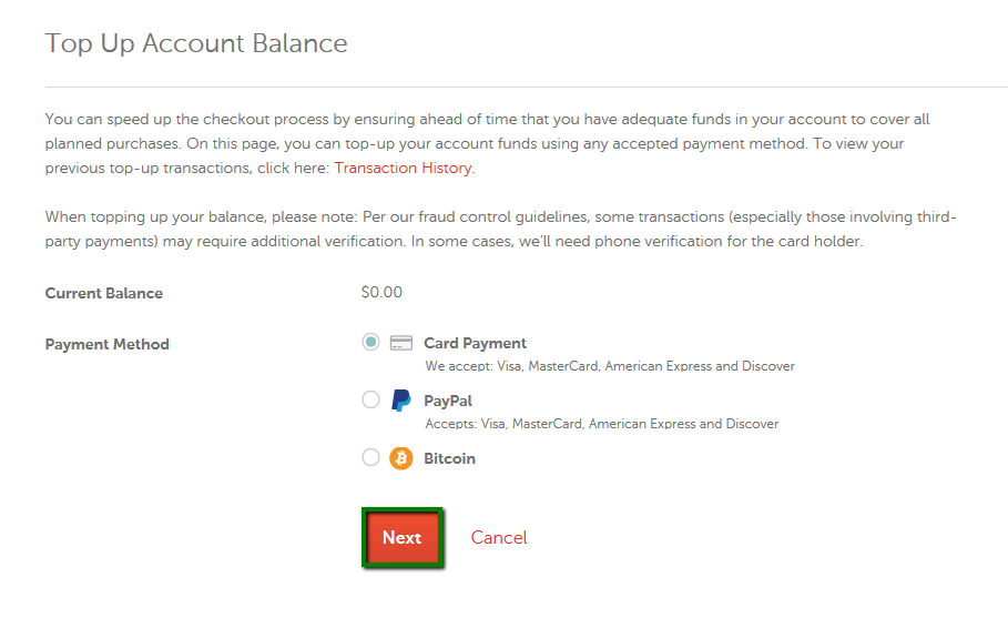 How can I add funds to my Namecheap account? - Checkout & Billing