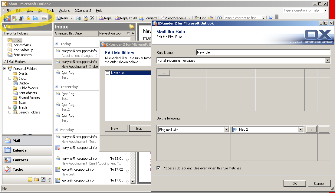 How to configure Exchange account in Microsoft Outlook 2003