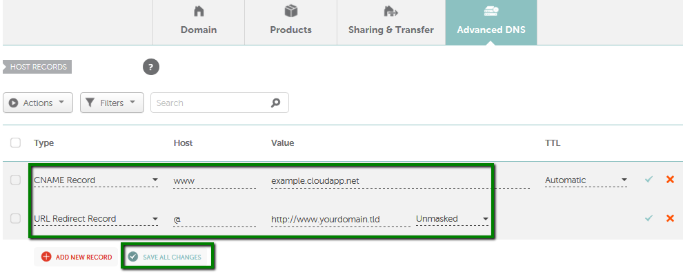 How to point a domain to Azure - Domains - Namecheap com