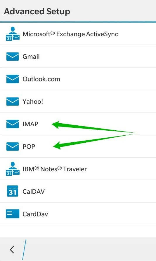 New Customer Account Setup Form Template Email On Blackberry 10 Smtp Imap Pop3 Service