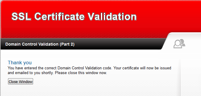 I completed DCV but the order is not issued (Brand validation)
