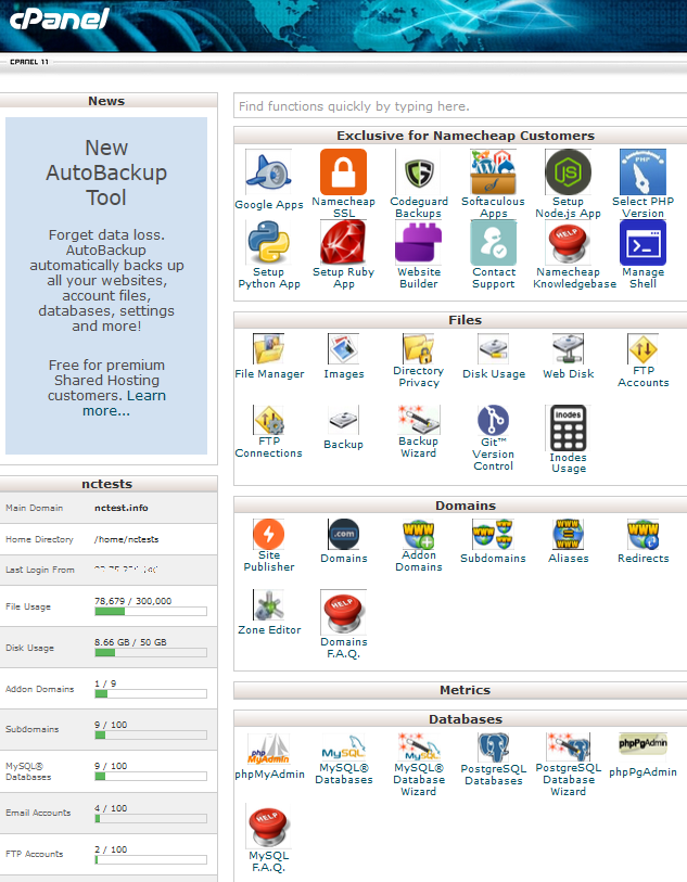 Difference between cPanel and WHM - Hosting - Namecheap com