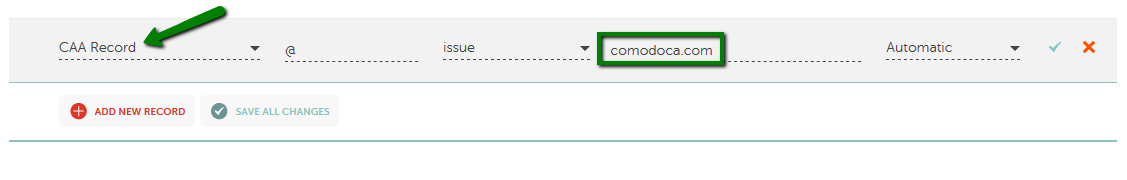Which record type option should I choose for the information