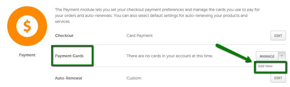Renewing credit card