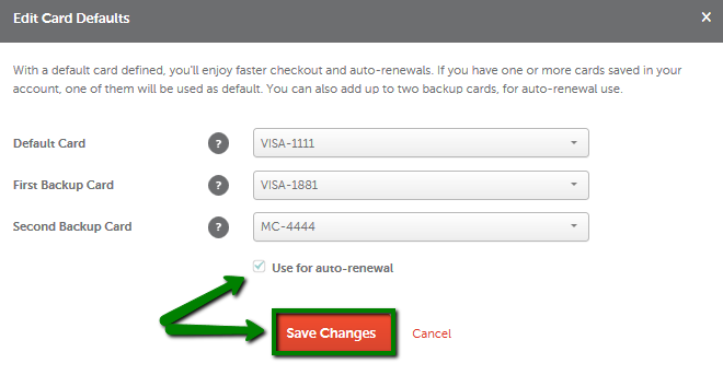 now you can configure the autorenewal for all your services in this way go to account u003eu003e profile u003eu003e billing u003eu003e click on edit button in front of