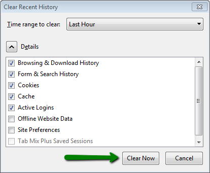 How to clear cache in different browsers (Windows) - Hosting
