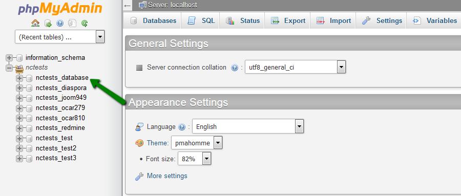 Using PHPMyAdmin to import WordPress database. Courtesy: Namecheap.com
