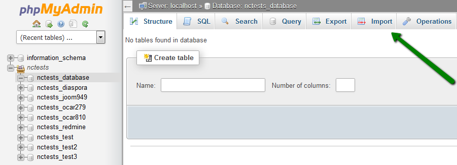 How to import and export a database via phpMyAdmin ('Access denied