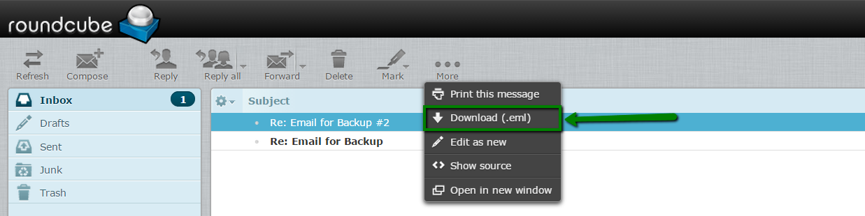 How to back up and restore emails in cPanel webmail - Email service