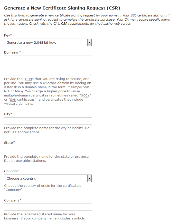 Generating A Csr Using Cpanel Namecheap