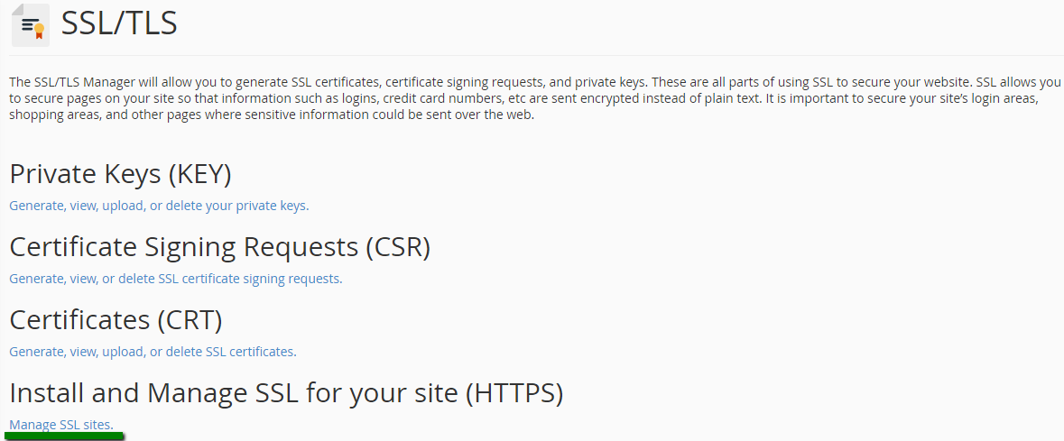 Installing A Ssl Certificate On Your Server Using Cpanel