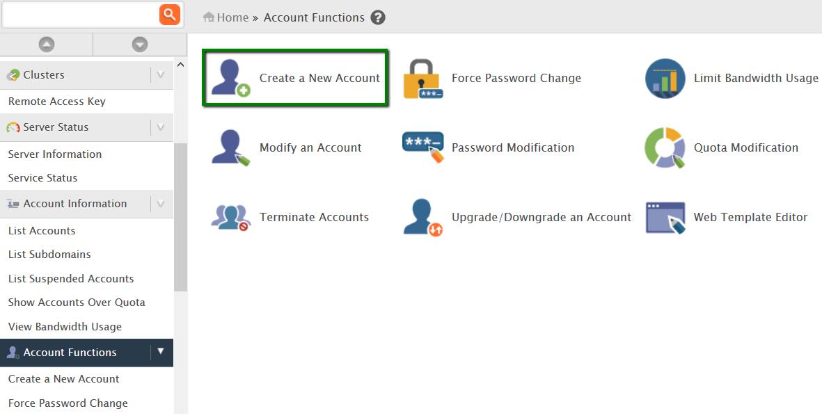 How to create a cPanel account - Hosting - Namecheap com