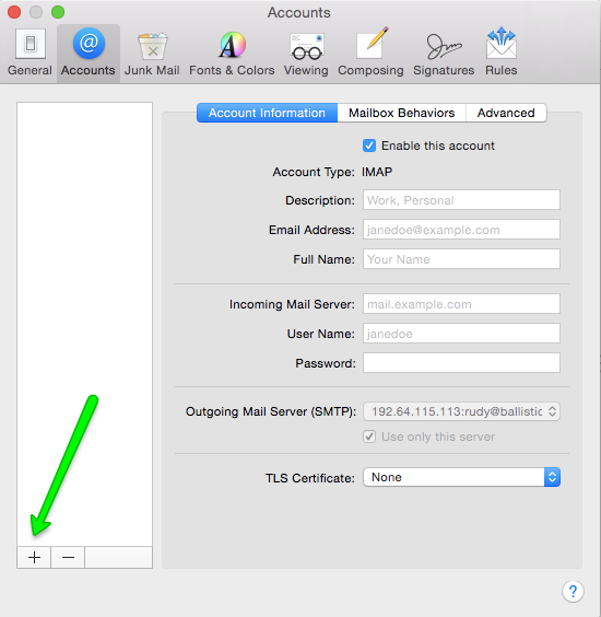 Setup a pop3 account in mail for macbook pro