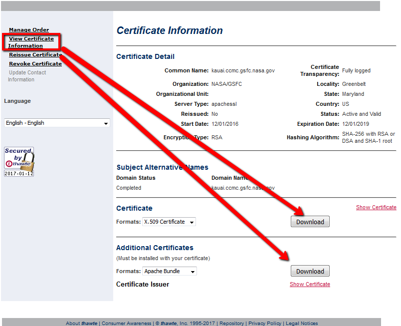 How to manage Symantec certificates in End User Home portal
