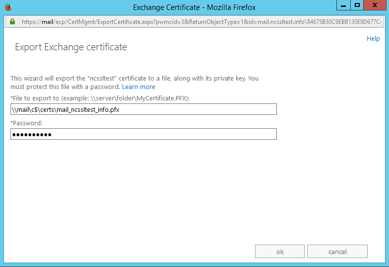How to export/import certificates in Exchange 2013 EAC - SSL ...