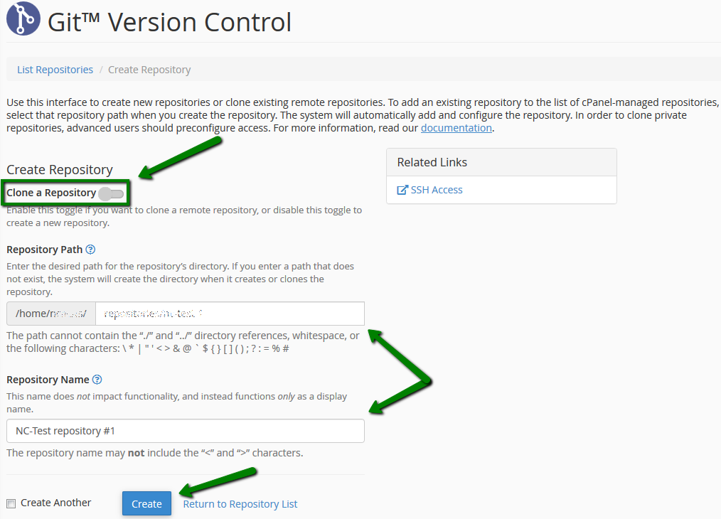 How to use Git Version Control cPanel plugin - Hosting