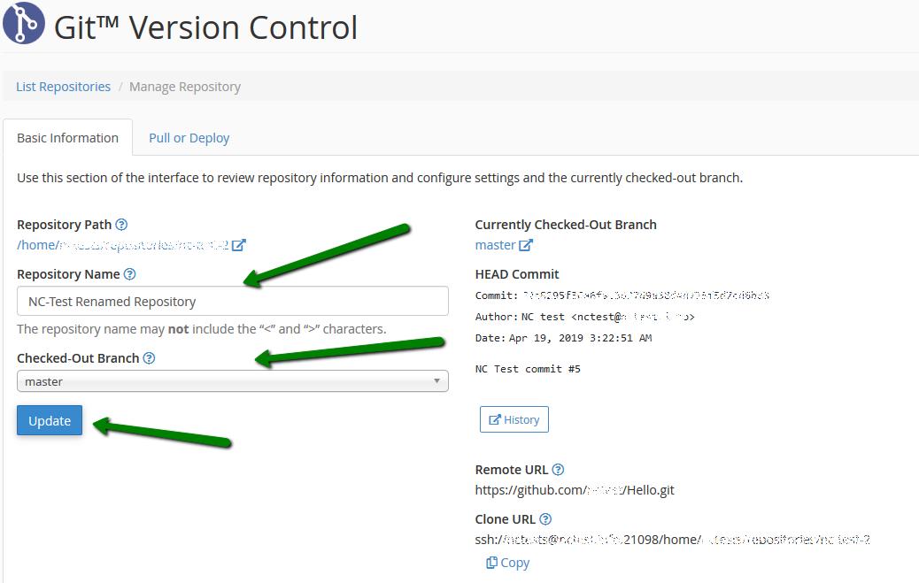 How to use Git Version Control cPanel plugin - Hosting - Namecheap com