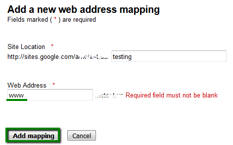 insert a subdomain that youve already added at namecheap www in our case into the web address line and click add mapping