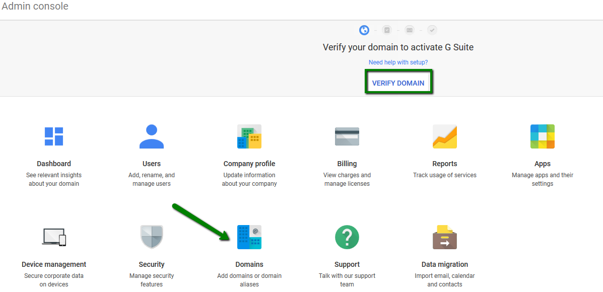 G Suite: Domain registered with Namecheap ownership