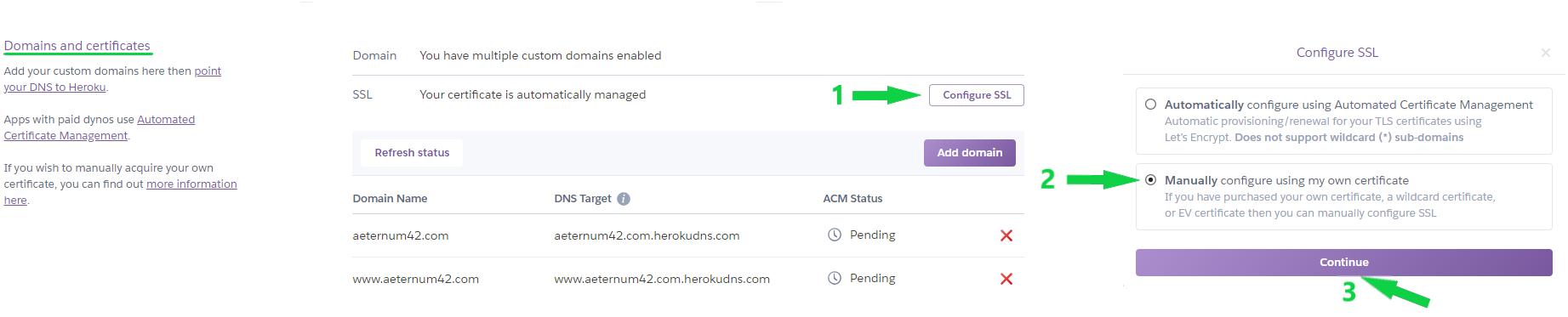 Installing A Ssl Certificate On Heroku Ssl Hosting Namecheap