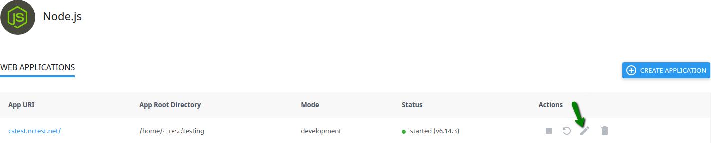 Comment accéder au gestionnaire d'application Node.js