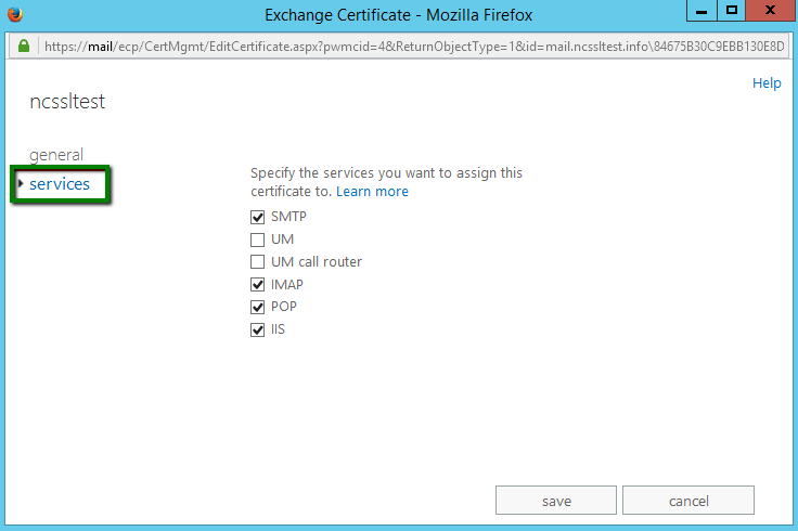 Installing an SSL certificate in Exchange 2013 EAC - Hosting - Namecheap