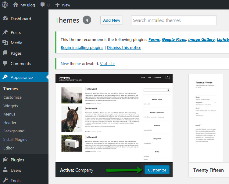 How to install a new theme for WordPress - Hosting