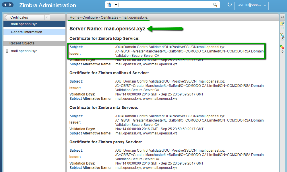 Installing A Ssl Certificate On Zimbra Namecheap