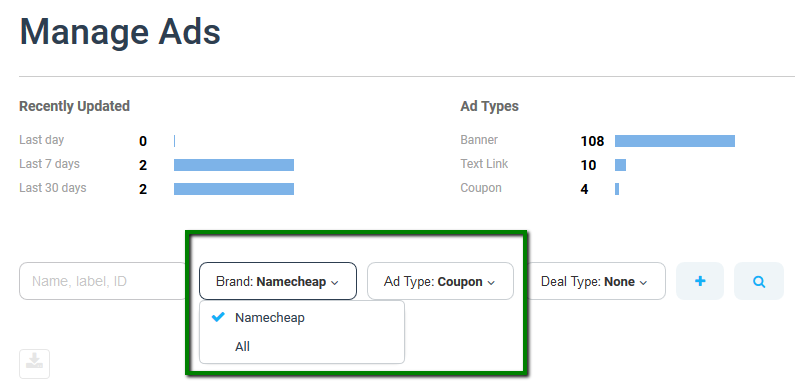 How to find affiliate coupon codes - Affiliates - Namecheap com