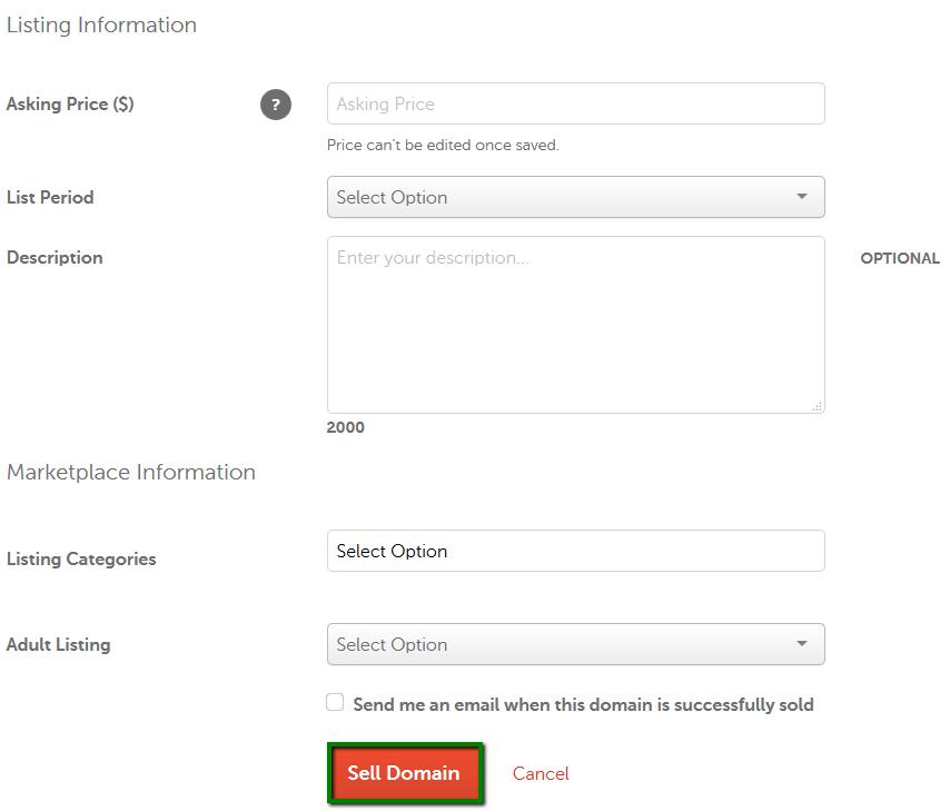 How do I list a domain for sale? - Domains - Namecheap com