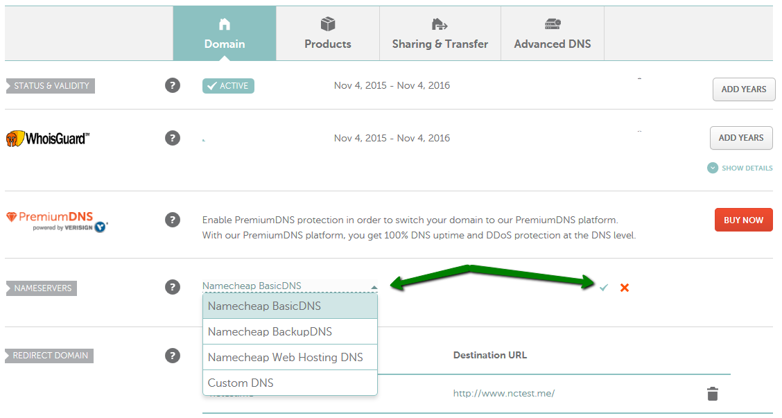 How do I set my domain to use Namecheap BasicDNS Domains